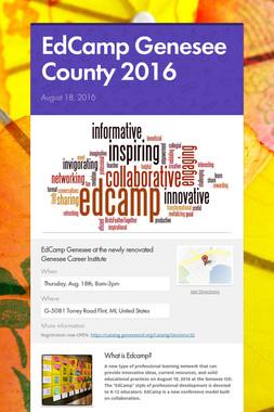 EdCamp Genesee County 2016