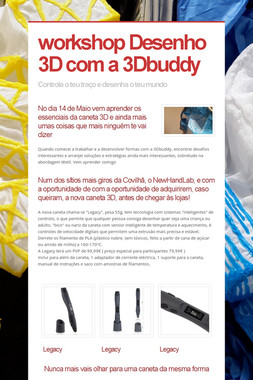 workshop Desenho 3D com a 3Dbuddy
