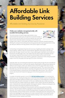 Affordable Link Building Services