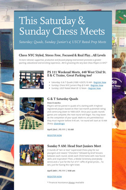 This Saturday & Sunday Chess Meets