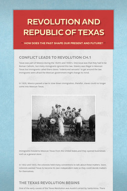 Revolution and Republic of Texas