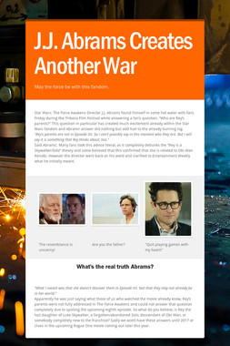 J.J. Abrams Creates Another War