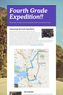Fourth Grade Expedition!!