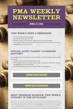 PMA Weekly Newsletter