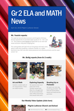 Gr 2 ELA and MATH News
