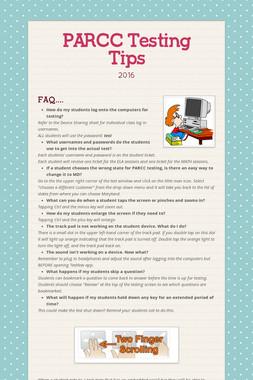 PARCC Testing Tips