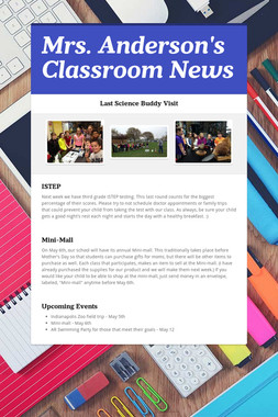 Mrs. Anderson's Classroom News