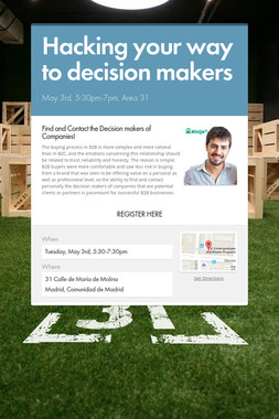 Hacking your way to decision makers