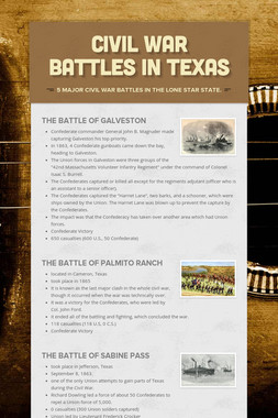 Civil War Battles in Texas