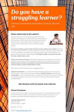 Do you have a struggling learner?