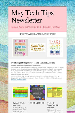 May Tech Tips Newsletter
