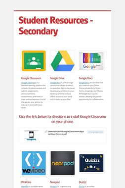 Student Resources - Secondary