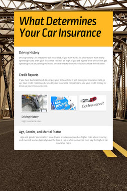 What Determines Your Car Insurance