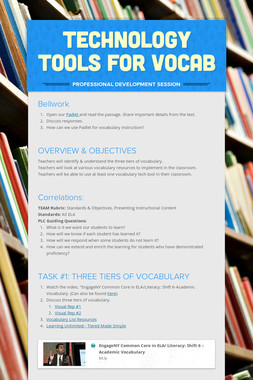 Technology Tools for Vocab