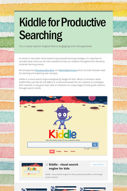 Kiddle for Productive Searching