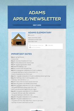 Adams Apple/Newsletter