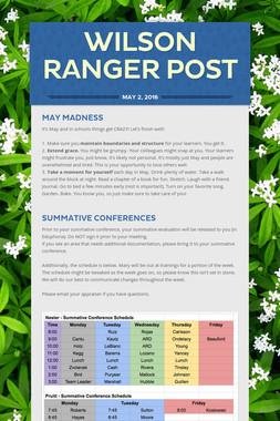 Wilson Ranger Post