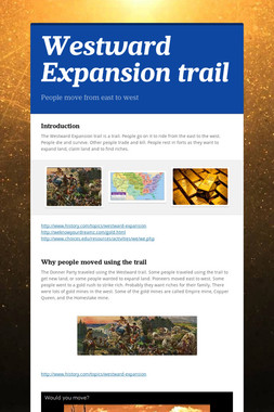 Westward Expansion trail