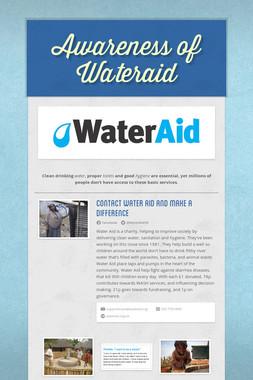 Awareness of Wateraid