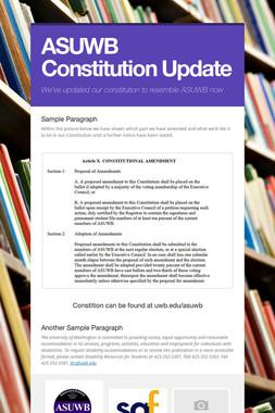 ASUWB Constitution Update