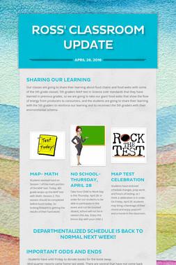 Ross' Classroom Update
