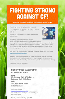 Fighting Strong Against CF!
