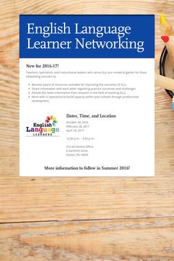 English Language Learner Networking