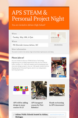APS STEAM & Personal Project Night