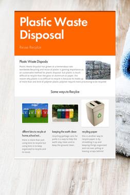 Plastic Waste Disposal