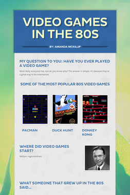 Video Games in the 80s