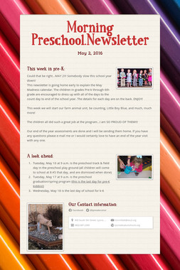 Morning Preschool.Newsletter