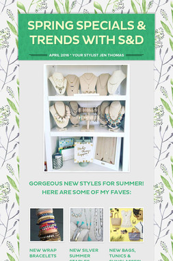 Spring Specials & Trends with S&D