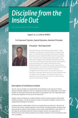 Discipline from the Inside Out