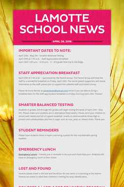 LaMotte School News