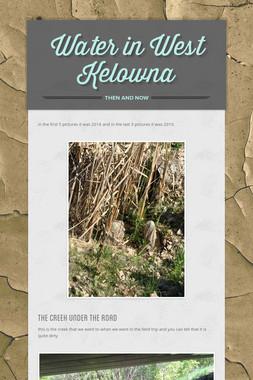Water in West Kelowna