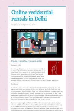 Online residential rentals in Delhi