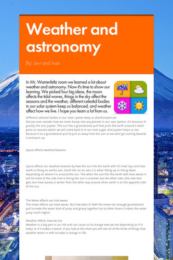 Weather and astronomy