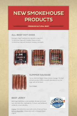 New Smokehouse Products