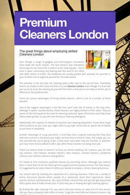 Premium Cleaners London