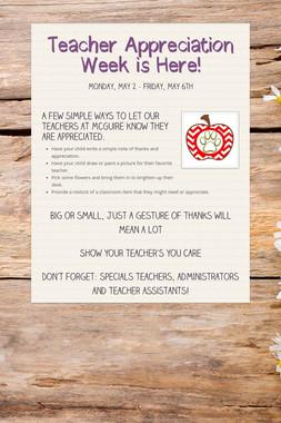 Teacher Appreciation Week is Here!