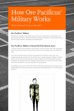 How Ore Pacificus' Military Works
