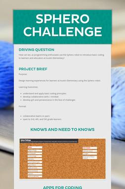 Sphero Challenge