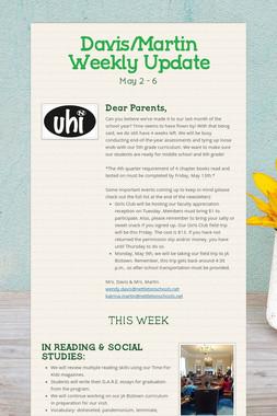 Davis/Martin Weekly Update