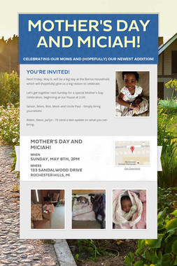 Mother's Day and Miciah!