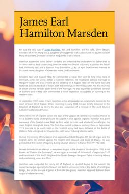 James Earl Hamilton Marsden