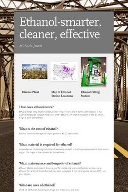 Ethanol-smarter, cleaner, effective