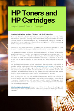 HP Toners and HP Cartridges