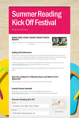 Summer Reading Kick Off Festival