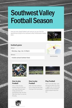 Southwest Valley Football Season