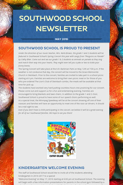 Southwood School Newsletter